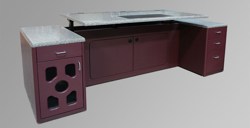 Dispatch Workstation with solid surface desktop