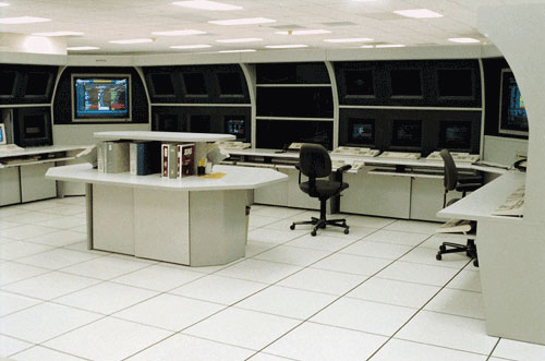 Double-tier Command and Control Room Consoles
